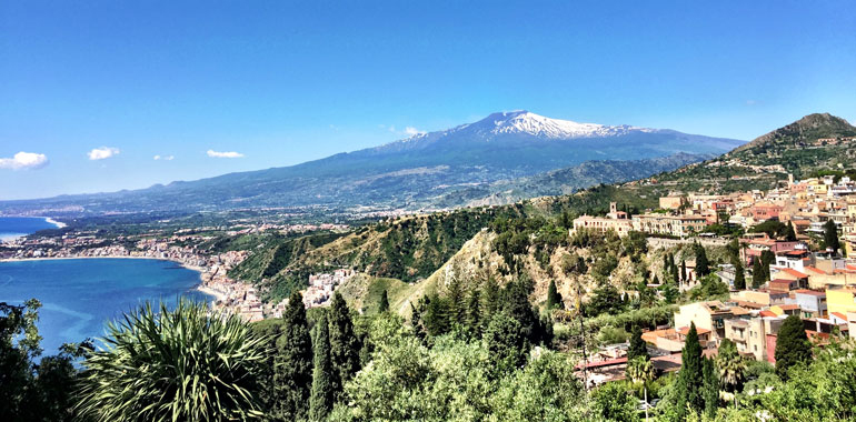 Mt. Etna and Taormina
